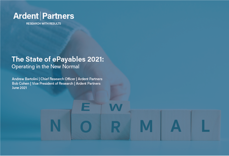 Ardent Partners State of ePayables 2021